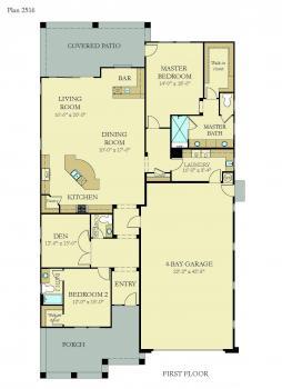 Floorplan for Residence 2516