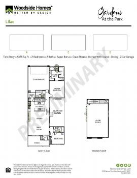 Floorplan for Lilac