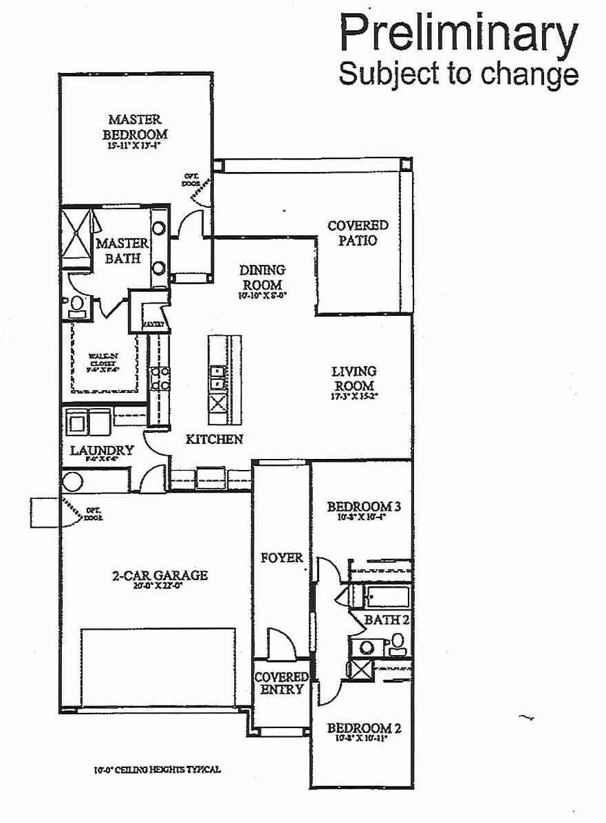 Floorplan for Residence 1667