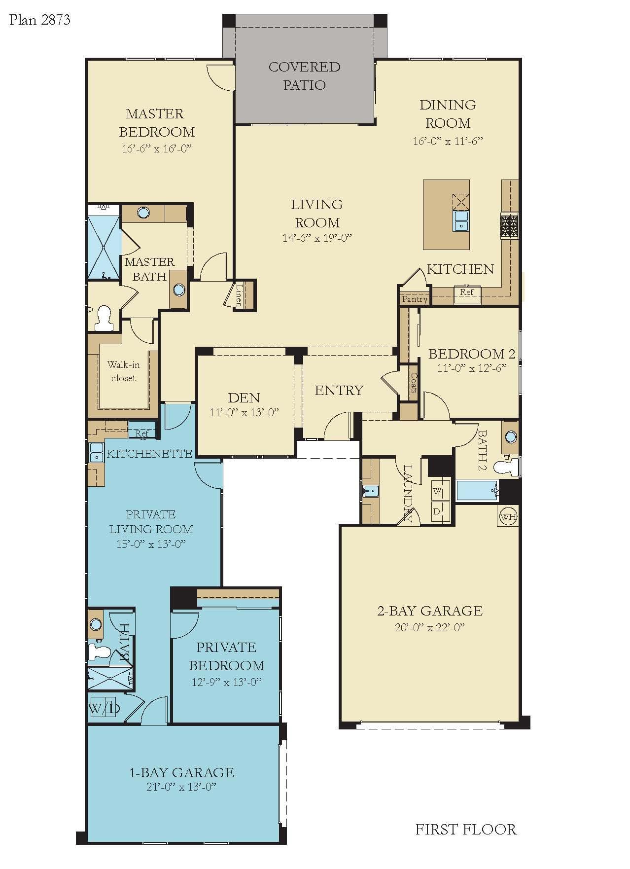 Floorplan for Residence 2873