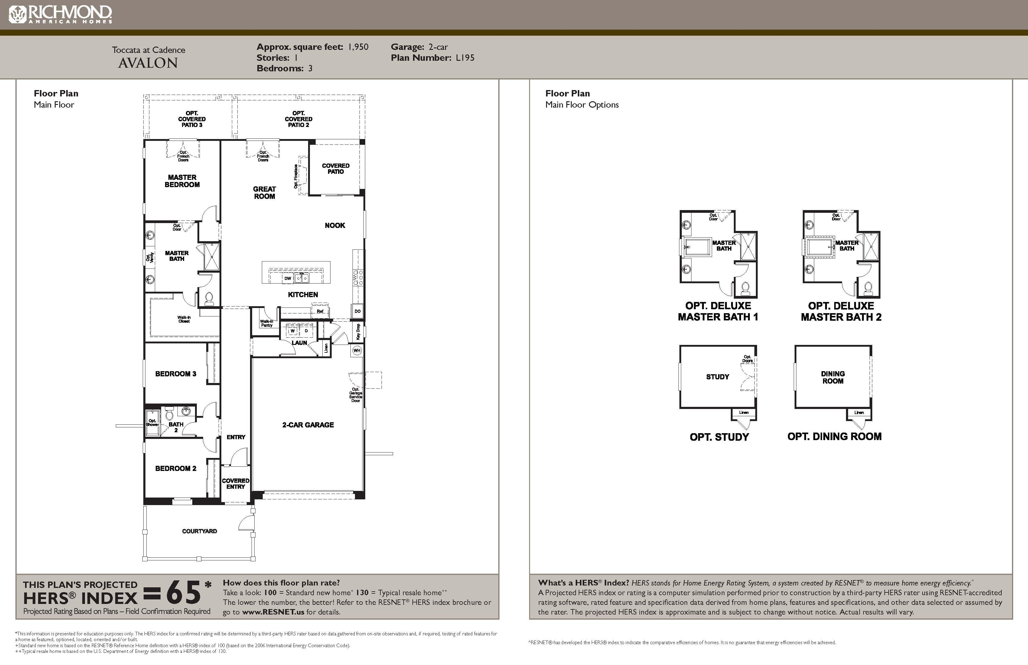 Floorplan for Avalon